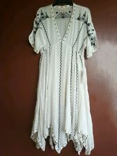 New DENIM & SUPPLY RALPH LAUREN Handkerchief Gauze Boho Dress S Retails $198.00