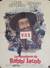 """""""LES AVENTURES DE RABBI JACOB"""" Affiche originale (Gérard OURY / Louis DE FUNES)"""