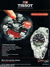 PUBLICITE ADVERTISING  016  2009  Tissot montre Touch Expert