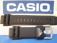 Casio Watch Band PAW-5000 Pathfinder Solar Atomic Black.Two-Piece Strap Resin