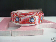 "3/8"" (9mm) Printed Grosgrain Ribbon  - By the Meter-  #4364 Stars & Stripes"