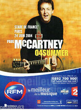 PUBLICITE ADVERTISING 115  2004  PAUL MC CARTEY en concert STADE DE FRANCE
