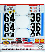 STUDIO27 TRANS DECAL for TAMIYA 1/12 FERRARI 312B 1971 ICKX ANDRETTI REGAZZONI