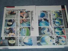 2013 Hot To Tech Info Article on Lace Painting a Race Car Helmet