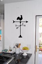 Rooster Weather Vane Wall Sticker Wall Art Vinyl Decals Kitchen Decor