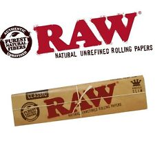 1 Pack of RAW Natural Unrefined Classic Rolling Papers (King Size Slim)