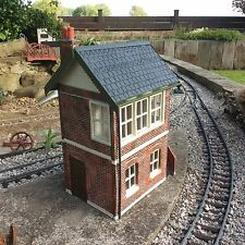 Garden Railway G Gauge 1:24th Scale New Signal Box Weathered With Gutters(WFS1)