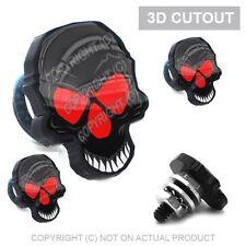 4 Black 3D Skull License Plate Frame Fastener Tag Bolts for Motorcycle Black