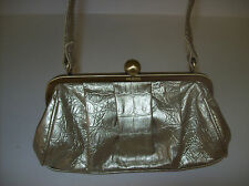 Unlisted A Kenneth Cole Production evening bag GOLD metallic clutch clasp closur