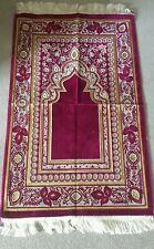 Islamic Prayer Mat Good Quality Turkish 500gram janamaz muslim prayer rug red