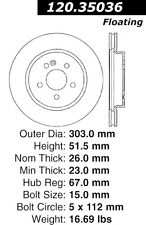 Centric Parts 126.35036SL Front Slotted Brake Rotor