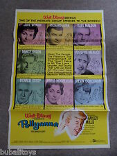 Pollyanna - Original Walt Disney U.S. One Sheet Movie Poster Hayley Mills RARE!