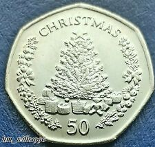 2006 Fifty Pence 50p Gibraltar Christmas Tree With Presents Coin UNC