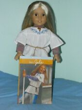 American Girl Doll Julie Pre-Beforever Classic + Partial Meet Necklace Book
