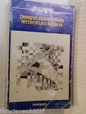 DISEGNO STORICO DELLA LETTERATURA ITALIANA Mario Sansone Principato 1979 libro