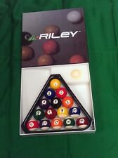 "Riley Aramith 1 7/8"" Spots Stripes Pool Balls.Pool Snooker table balls+triangle"