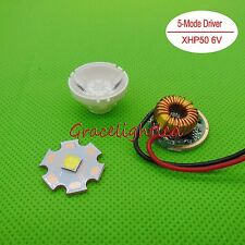 Cree XLamp XHP50 Cool White LED 6V 4.8A + 1/3/5 Mode Dimming Led Driver+lens DIY