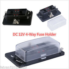 12V Car Boat 4Way Terminals Circuit Standard ATO ATC Blade Fuse Box Block Holder