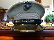 USMC OFFICER COMPANY GRADE HAT CAP VISOR NEAR MINT