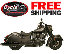 I1105 Rush Racing Exhaust Black Head Pipes for 2014-2017 Indian Motorcycles
