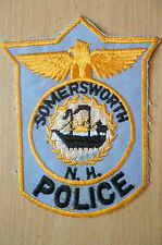 Patches: SOMERWORTH N.H. New Hampshire POLICE PATCH (NEW* apx.12.5x10 cm)
