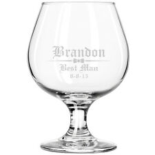Personalized Engraved Brandy Glass Snifter Wedding Groomsman Best Man Gift