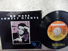 Paul McCartney No More Lonely Nights Both Sides 45 Picture Sleeve
