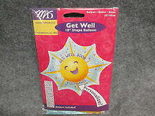 "Get Well Soon Star Shaped Sunshine 18"" Foil Balloon Personalized NEW"