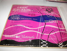 Grieg Concerto A Minor Op 16 Walter Gieseking LP EX Columbia ML4431