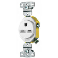 Hubbell 15-Amp White Single Electrical Outlet through wall air conditioners NEW