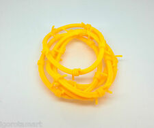 5X LOT Punk Yellow Silicone Double Barbed Wire Bracelet Wristband Rubber Bangle