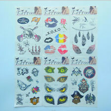 wholesale Free shipping 6sheet Temporary Pirate & Skull Tattoos  tattoo paste