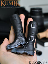 "Black Plastic boots 1:6 KUMIK Shoes F 12"" Action Figure Female Doll Model S-7"