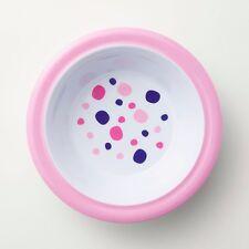 Barel Junior Pink & Polka Dot Rimmed Melamine Bowl - Kids, Breakfast, And Dinner