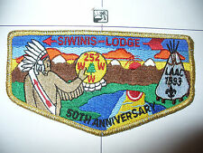 OA Siwinis 252,S-26,50th Ann Lodge Flap,GMY Bdr,LAAC,Los Angeles Area Council,CA