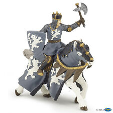 Horse of black Knights with Axt 15 cm Knight and Castles Papo 39776