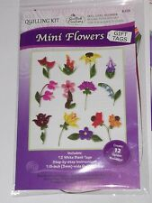 MINI FLOWERS GIFT TAGS QUILLING KIT-Quilled Paper Craft-Cardmaking/Scrapbooking