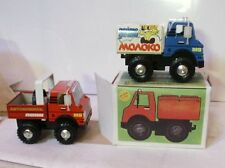 Vintage Russian Made Tin MILK Toy Wind-Up Cargo Truck. MIB. Key included