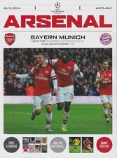 Arsenal V bayern munich 2013/14 champions league programme