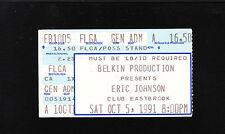 ORIGINAL VINTAGE Eric Johnson Ticket Stub Oct 15 1991Club Eastbrook Michigan