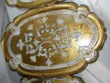 """rare nos  Italy Italian Florentine tole tray Hollywood Regency serving 22.5""""Wide"""