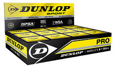 Dunlop pro squash balls double yellow dot 12 pack | wsa & psa official ball