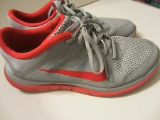 Mens Nike Running Free Shoes 4.0 V4 - Size 8.5 - Red and Grey - 642197-060
