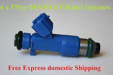 6 DENSO 570CC GTR Fuel Injectors for NISSAN NISMO Z33 Z34 V35 V36 VQ25 VQ35 VQ37