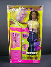 NIB BARBIE DOLL 1999 SECRET MESSAGES CHRISTIE W/LOCKER AFRICAN AMERICAN