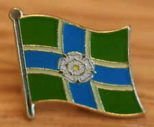 YORKSHIRE - NORTH RIDING England County Flag Enamel Pin Badge UK Great Britain