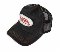 VON DUTCH BLACK DENIM WOMEN'S CAP HAT HEADGEAR W / ADJUSTABLE SIZING