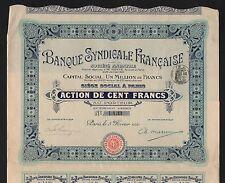 Banque Syndicale Française  (A)