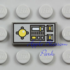 NEW Lego Plane DASH BOARD CONTROL TILE Gray 1x2 Minifig Vehicle Computer Panel