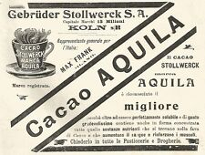 Y2169 Cacao Stollwerck marca Aquila - Pubblicità del 1903 - Old advertising